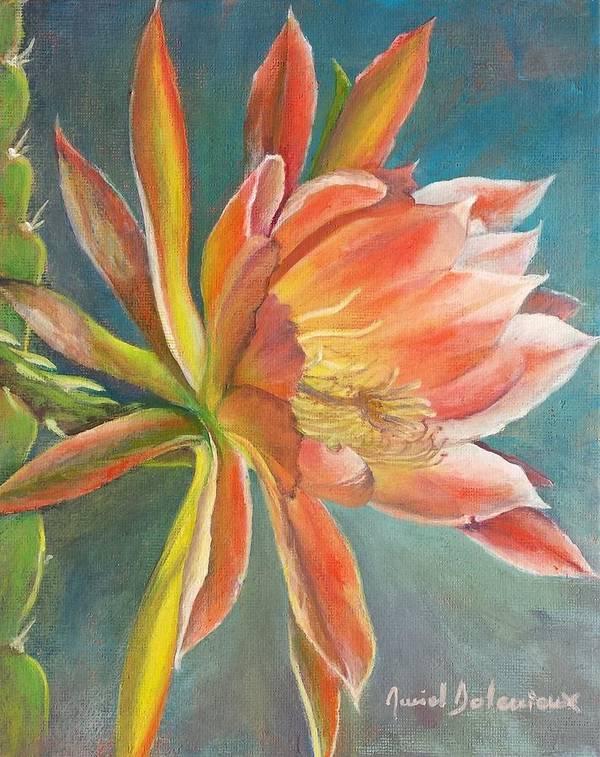 Acrylic Poster featuring the painting Cierge en Fleur by Muriel Dolemieux