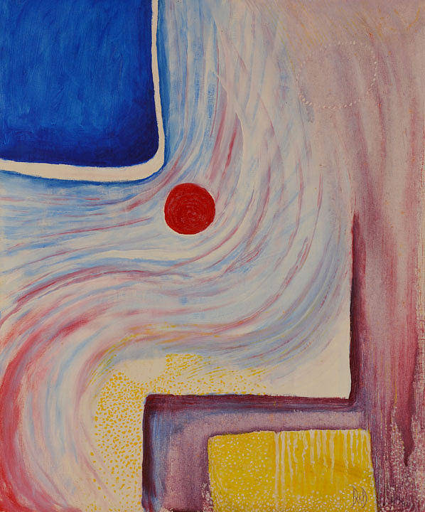 Abstract Poster featuring the painting Circle and Corner by David Douthat