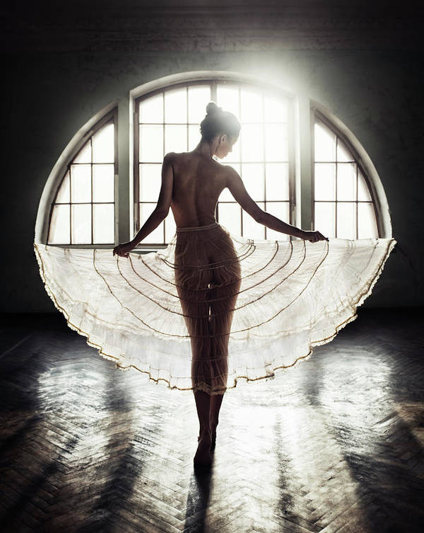 Fine Art Nude Poster featuring the photograph Circle by David Dubnitskiy