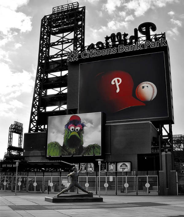 Citizens Bank Park Philadelphia Poster featuring the photograph Citizens Bank Park Philadelphia by Bill Cannon