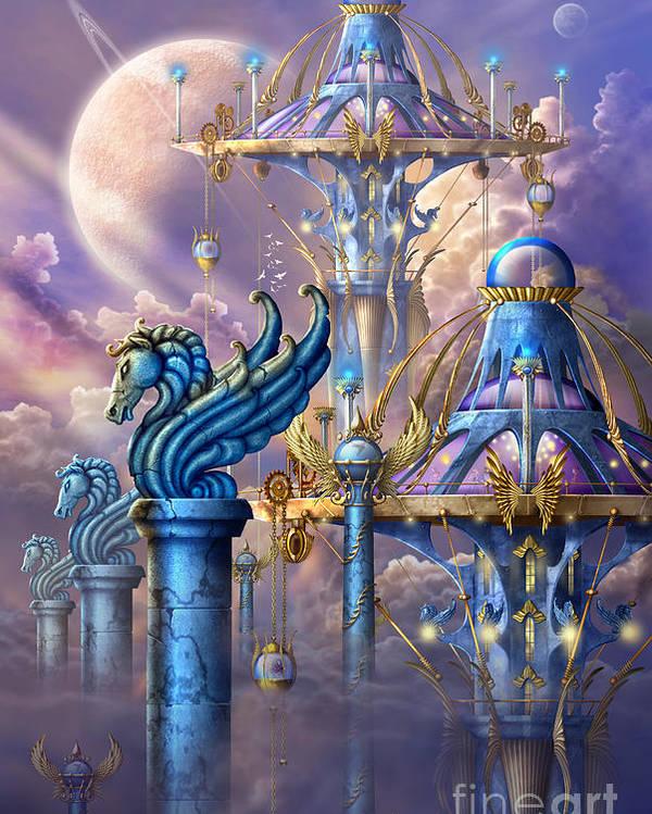 Ciro Marchetti Poster featuring the digital art City Of Swords by Ciro Marchetti