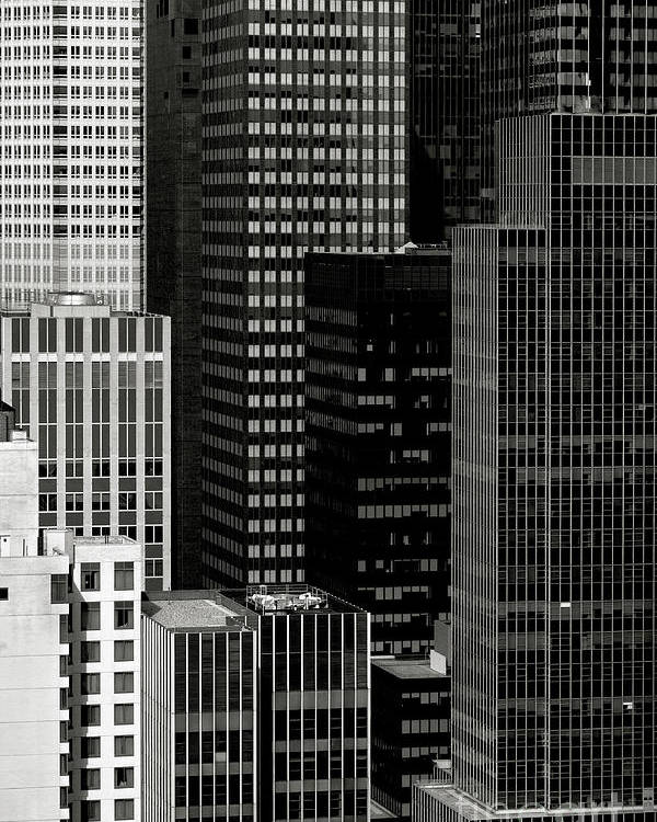 City Poster featuring the photograph Cityscape In Black And White by Diane Diederich