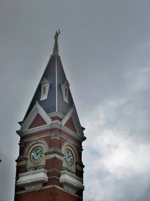 Clarion Poster featuring the photograph Clarion Clock Tower by Anthony Thomas