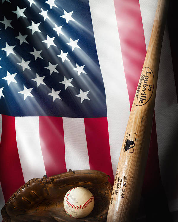 Baseball Poster featuring the photograph Classic Americana by Bill Wakeley
