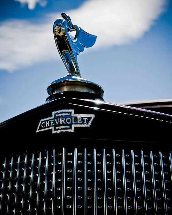 Chevy Emblem Poster featuring the photograph Classic Chevrolet by Phil 'motography' Clark