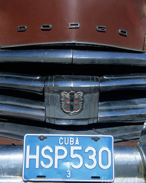 Cuba Poster featuring the photograph Classic Dodge by James Brunker