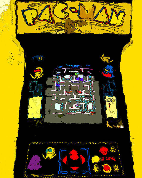 Art Poster featuring the painting Classic Pacman by David Lee Thompson