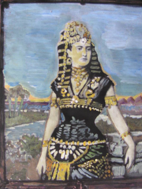 Pharaoh Poster featuring the painting Cleopatra The Last Pharoah Of Egypt by Vikram Singh