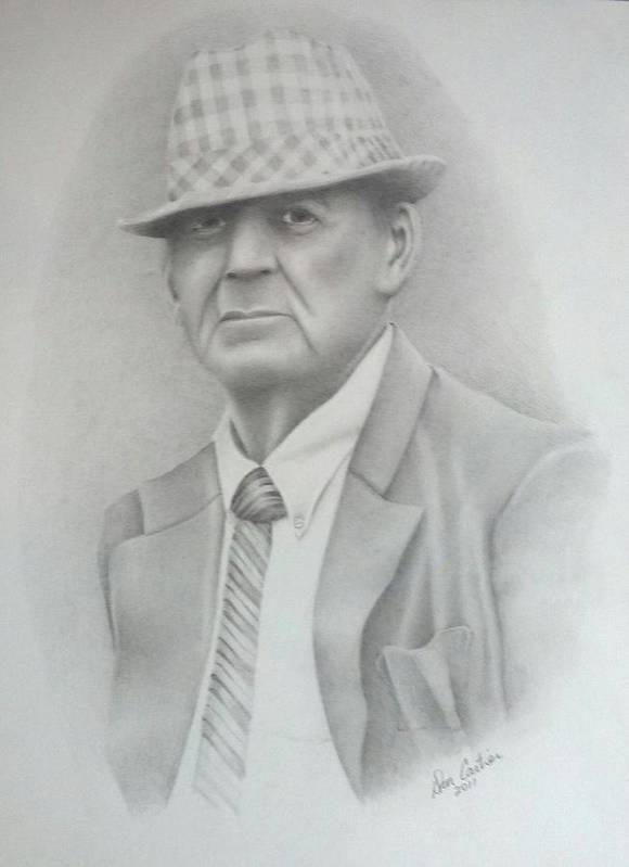 Coach Poster featuring the drawing Coach by Don Cartier