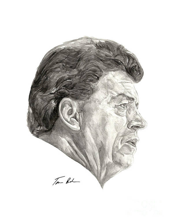 Coach Chuck Daly Poster featuring the painting Coach by Tamir Barkan