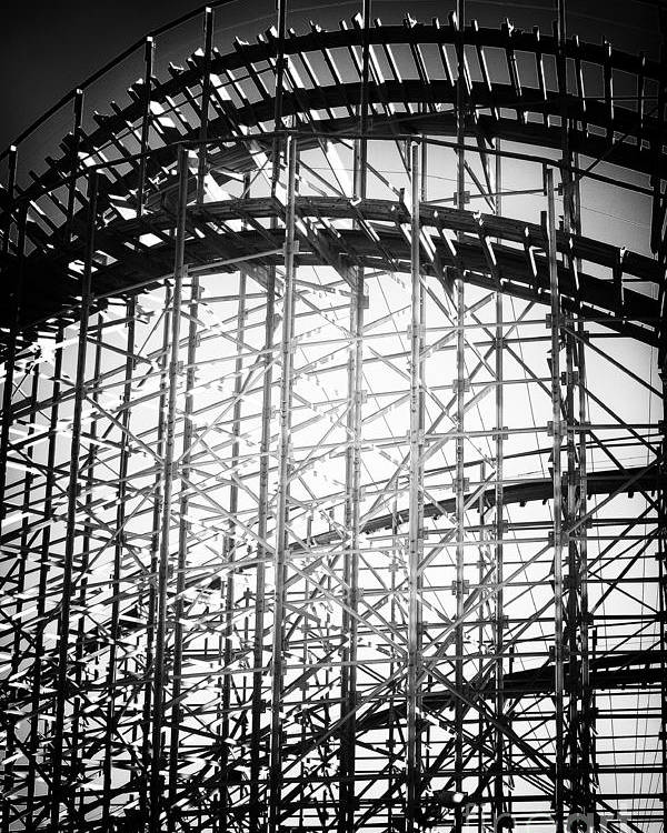 Coaster Light Poster featuring the photograph Coaster Light by John Rizzuto