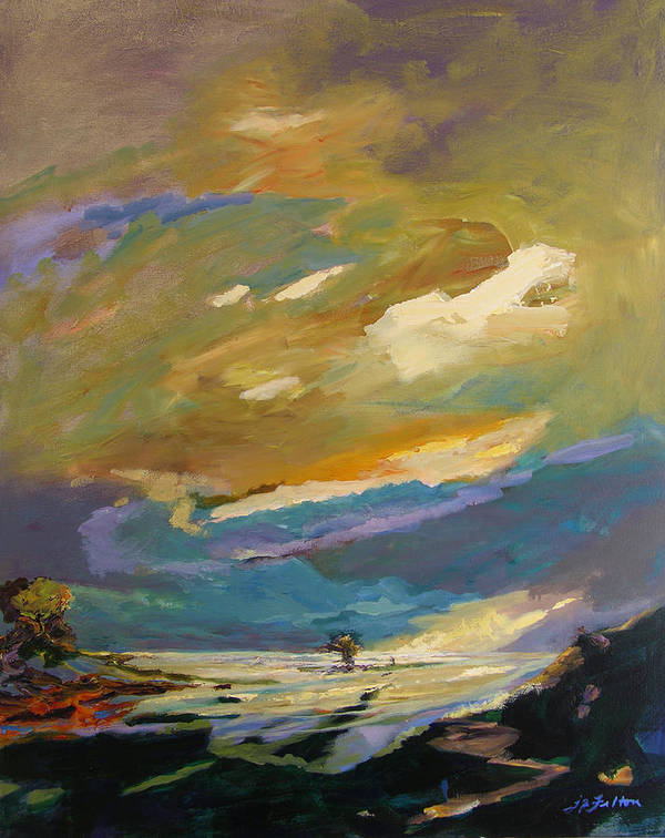 Impressionism Poster featuring the painting Coastline by Julianne Felton