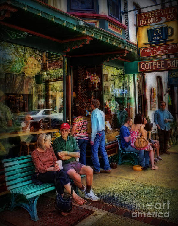 Storefront.store Front Poster featuring the photograph Coffee Lovers by Lee Dos Santos
