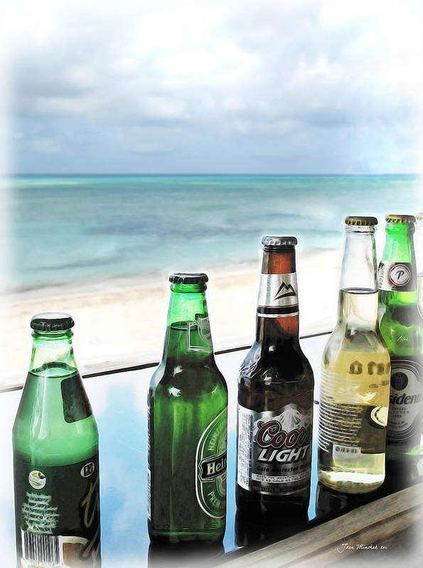 Beer Poster featuring the photograph Cold Beers In Paradise by Joan Minchak