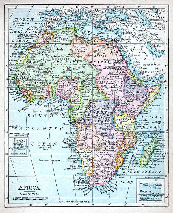 Colonial Map Of Africa Poster by Russell Shively