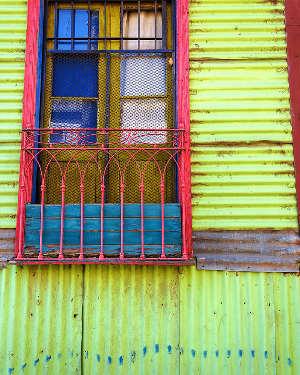 Argentina Poster featuring the photograph Colorful Window by Jess Kraft
