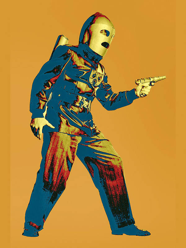 Pop Art Poster featuring the mixed media Commando Cody 1 by Dominic Piperata