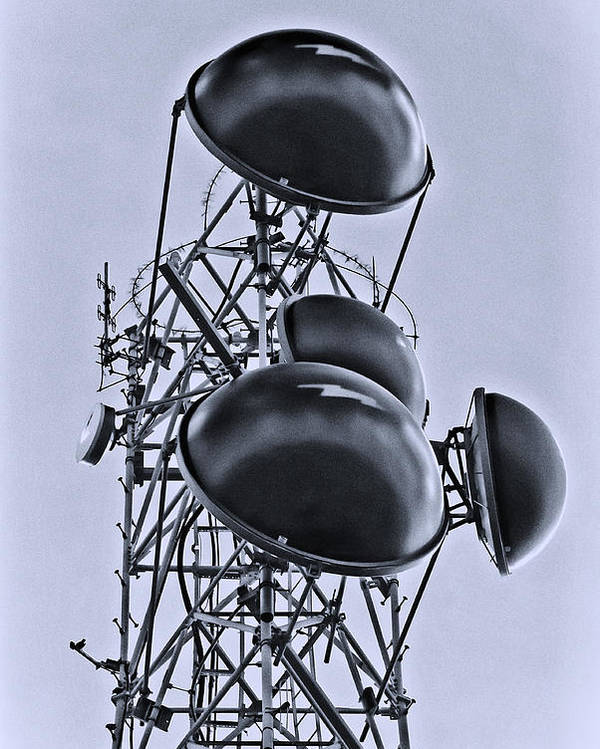 Radio Poster featuring the photograph Communication by Patrick M Lynch