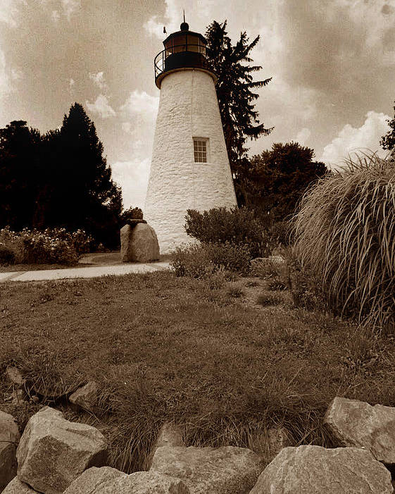 Lighthouse Poster featuring the photograph Concord Point Lighthouse by Skip Willits