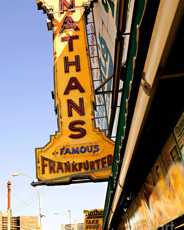 Original Nathans Poster featuring the photograph Coney Island Memories 1 by Madeline Ellis