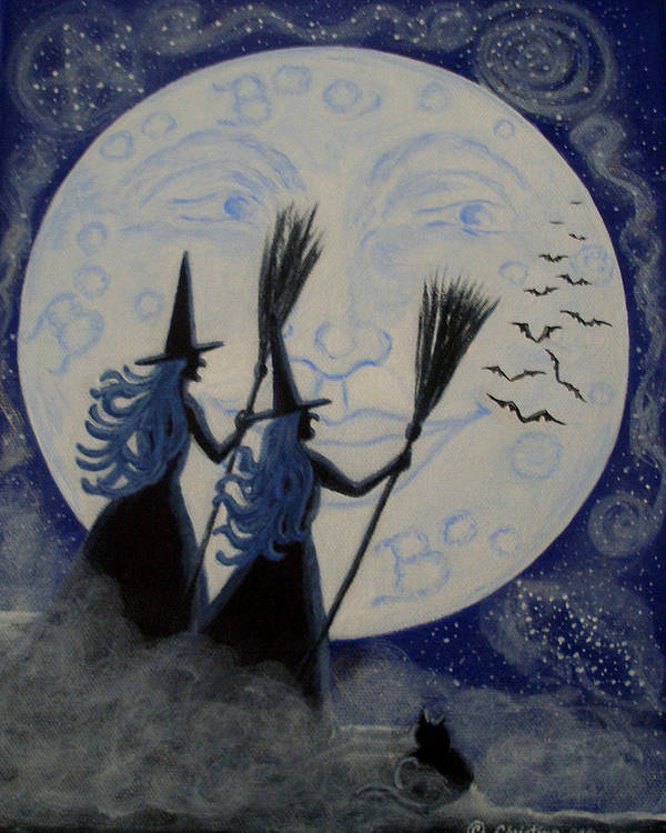 Man Poster featuring the painting Conjuring Constellations by Christine Altmann