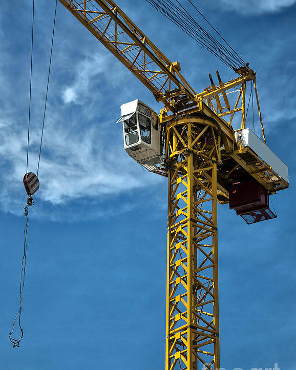 Construction Poster featuring the photograph Construction Crane Asia by Antony McAulay