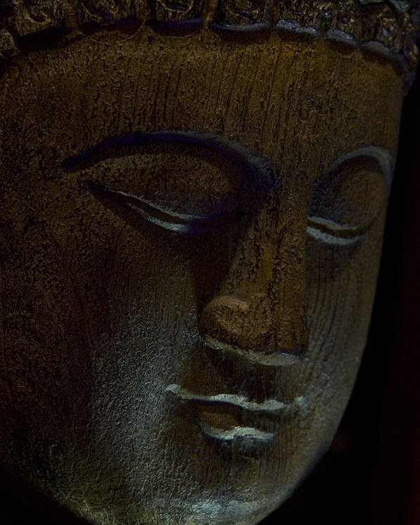 Contented Buddha Poster featuring the photograph Contented Buddha by Scott Lenhart