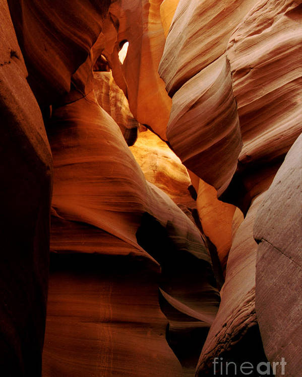 Antelope Canyon Poster featuring the photograph Convolusions by Kathy McClure