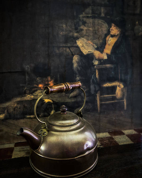 Appalachia Poster featuring the photograph Copper Teapot by Debra and Dave Vanderlaan