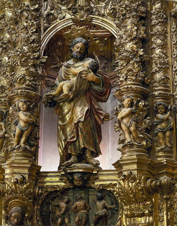 Two Poster featuring the photograph Costa, Pablo 1672-1728. Main Altarpiece by Everett