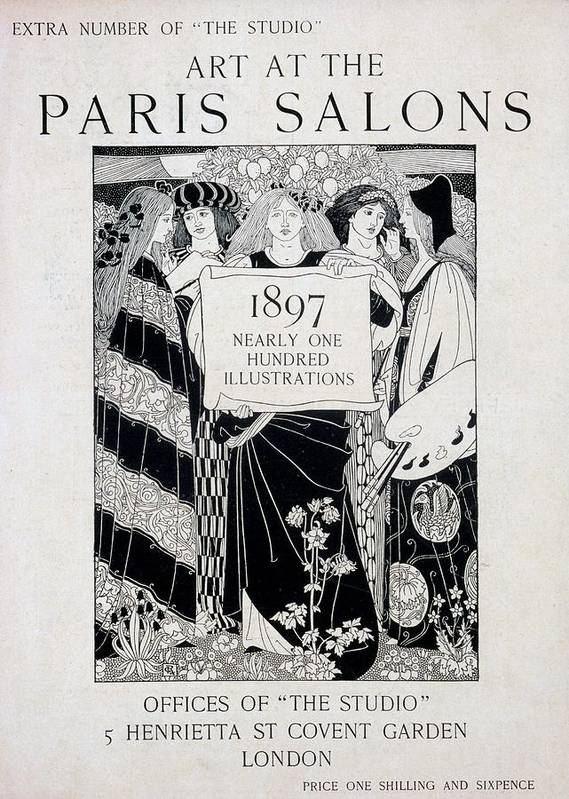 Art At The Paris Salons Poster featuring the drawing Cover For Art At The Paris Salons by English School
