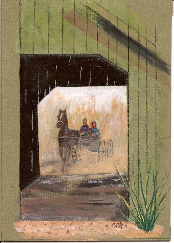 Bridges Poster featuring the painting Covered Bridge by Catherine Swerediuk