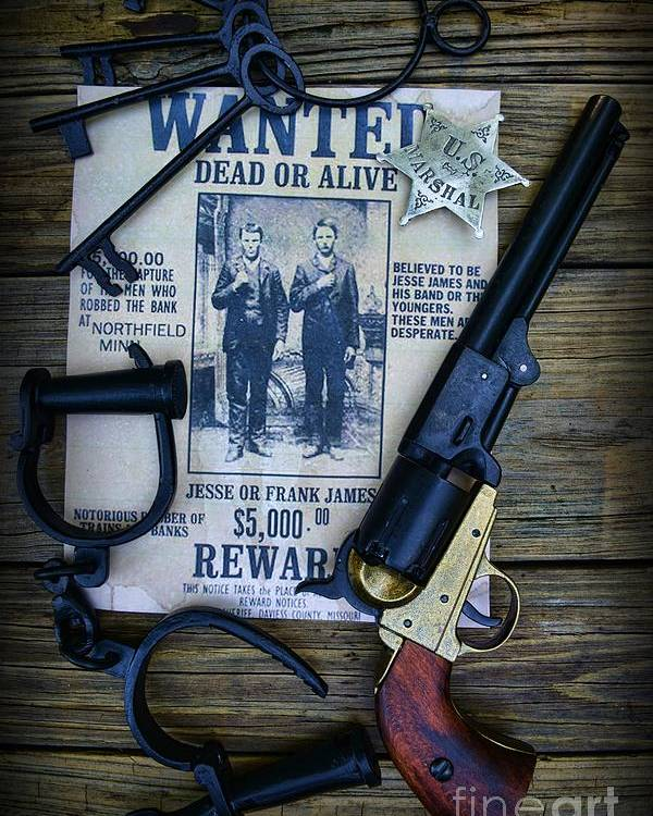 Paul Ward Poster featuring the photograph Cowboy - Law And Order by Paul Ward
