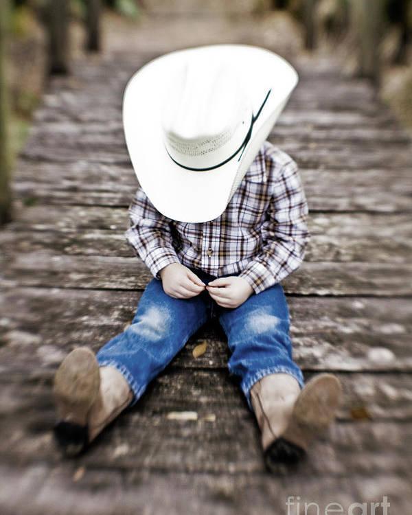 Cowboy Poster featuring the photograph Cowboy by Scott Pellegrin
