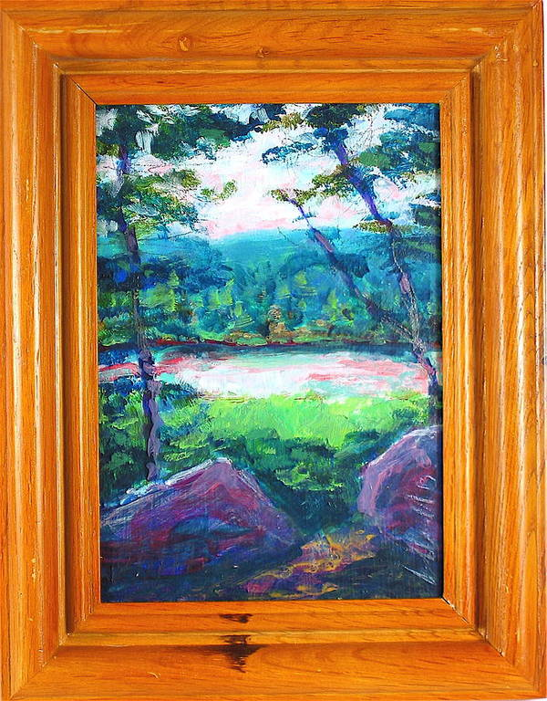 Landscape Poster featuring the painting Cox Hollow by Les Leffingwell