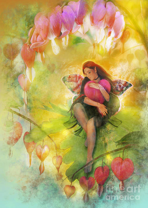 Fairy Poster featuring the digital art Cradle Your Heart by MGL Meiklejohn Graphics Licensing
