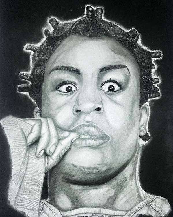 Oitnb Poster featuring the drawing Crazy Eyes by Dora Taggett