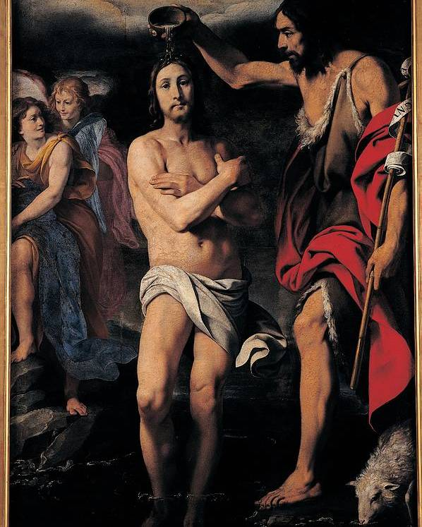17th Century Poster featuring the photograph Crespi Daniele, The Baptism Of Christ by Everett
