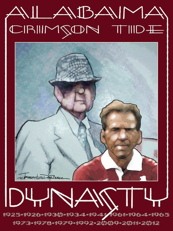 Alabama Poster featuring the painting Crimson Dynasty by Jerrett Dornbusch