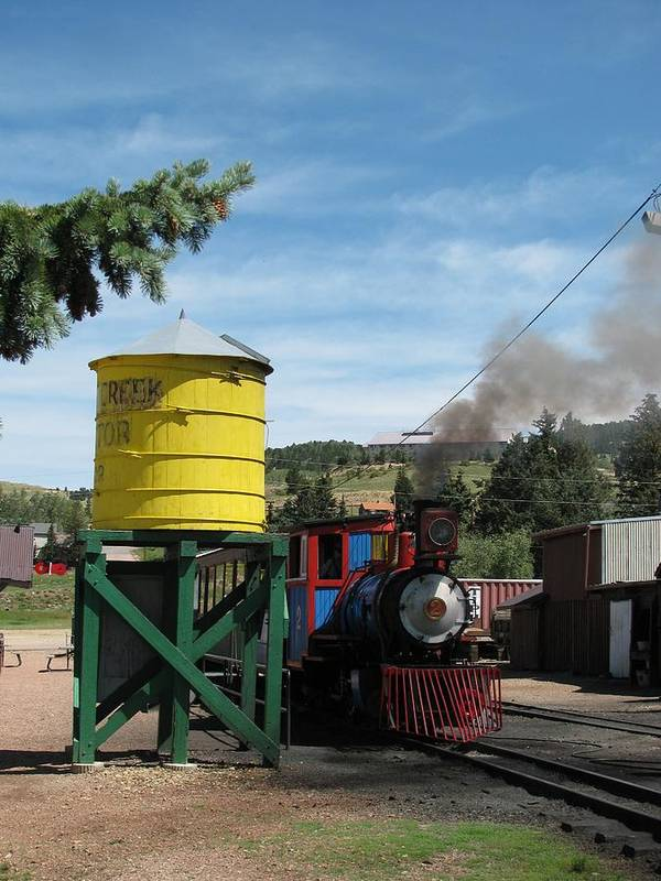 Transportation Poster featuring the photograph Cripple Creek Train by Steven Parker