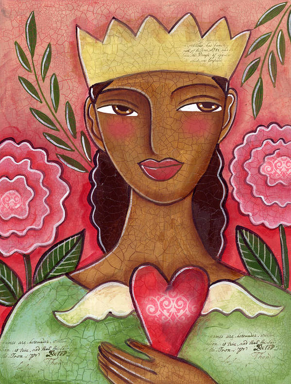 Heart Poster featuring the painting Crowned Heart by Elaine Jackson