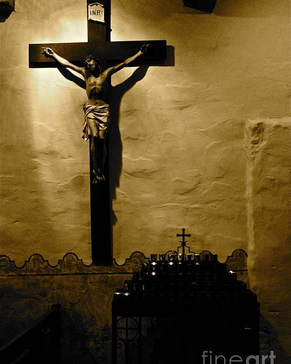 Christ Poster featuring the photograph Crucifixion by Lori Leigh
