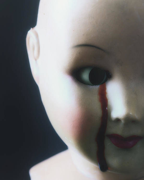 Doll Poster featuring the photograph Crying Blood by Joana Kruse