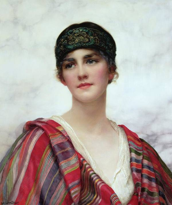Cyrene Poster featuring the painting Cyrene by William Clark Wontner