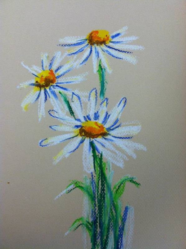 Poster featuring the painting Daisies For You by Hae Kim