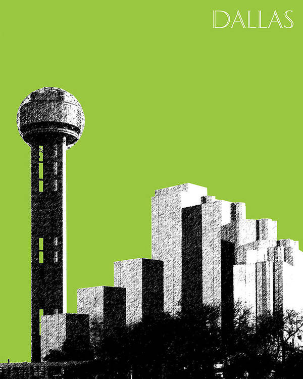 Architecture Poster featuring the photograph Dallas Reunion Tower by DB Artist