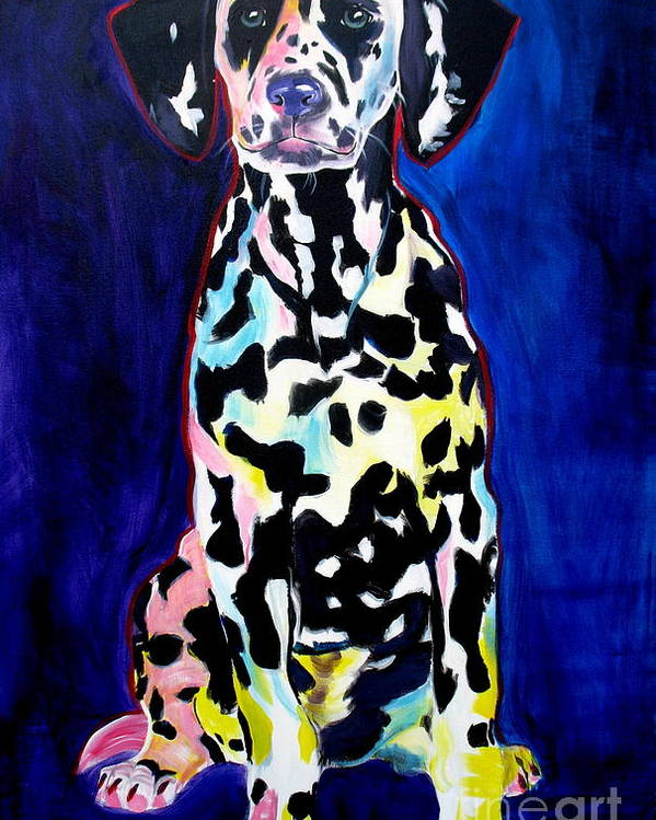 Dog Poster featuring the painting Dalmatian - Polka Dots by Alicia VanNoy Call