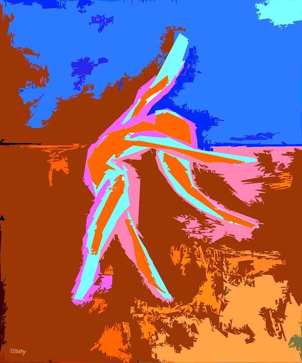 Ballerina Poster featuring the painting Dance Of Joy 2 by Patrick J Murphy