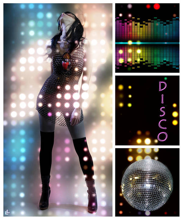 Disco Poster featuring the digital art Dance Series - Disco by Linda Lees