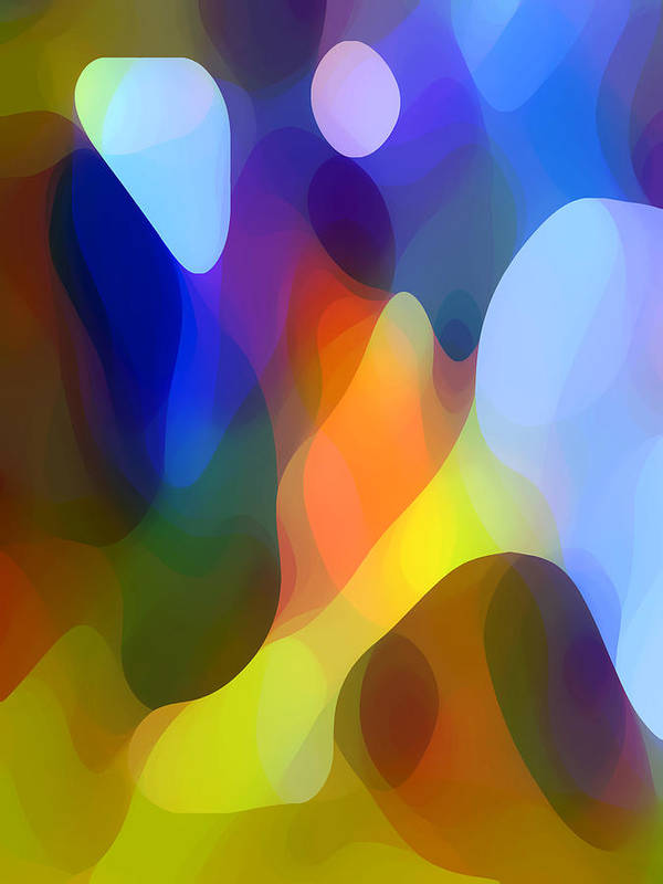 Abstract Art Poster featuring the painting Dappled Light by Amy Vangsgard